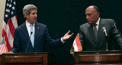 Kerry talks democracy in Egypt – and promises delivery of weapons